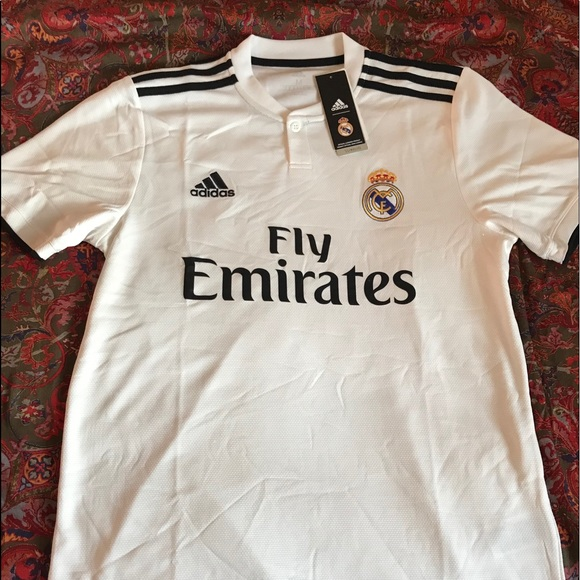 42a80eb36 adidas Shirts   Mens 201819 Real Madrid Home Soccer Jersey   Poshmark